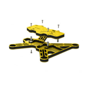 gravity-250-fpv-racing-frame-yellow-exploded
